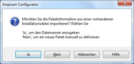 Paket in Empirum SoftwareDepot einbinden