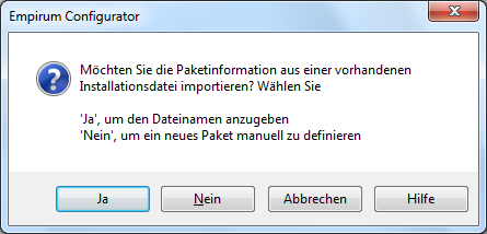 Paket in Empirum SoftwareDepot einbinden