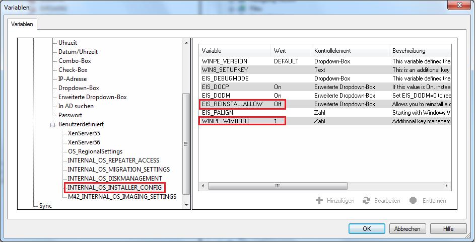 Variablen Internal_OS_Installer_Config