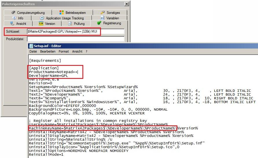 Empirum MachineKey Software-Depot und Setup.Inf