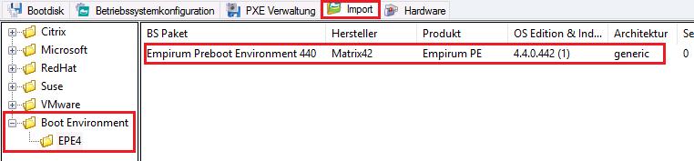Matrix42 EPE 4 Import